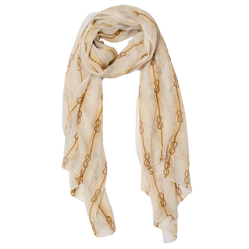 Eradine Nautical Silk Chiffon Scarf