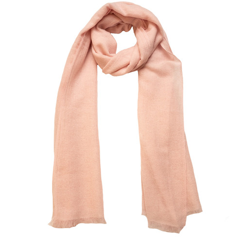 Light pink cashmere scarf