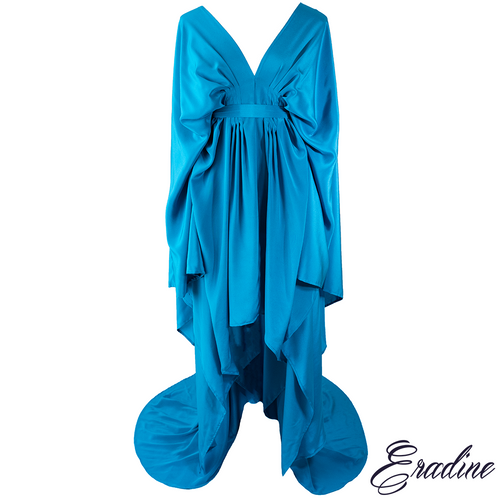 Dryad evening dress in Riviera Blue
