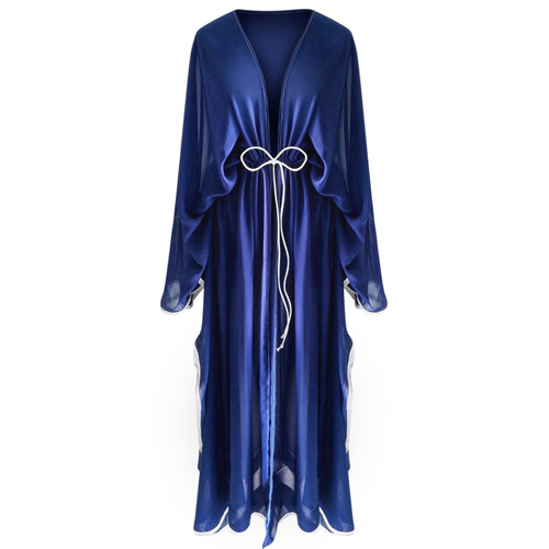 Blue Chiffon Long Cover Up