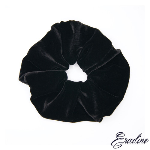 Black Velvet silk scrunchie