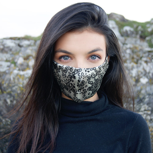 Leopard Face Mask on Model