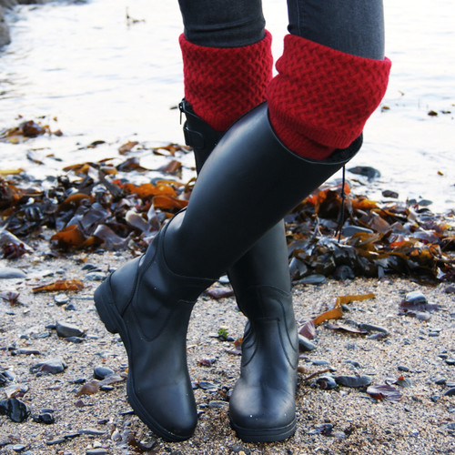Red Cashmere Country Socks with Boots