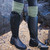 Green Cashmere Country Socks with Boots