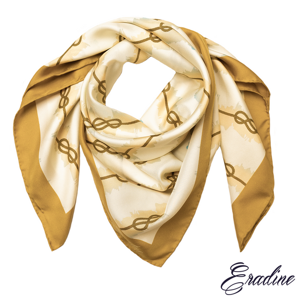 Eradine Silk Square Scarf in Nautical - knot profile