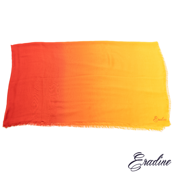 Eradine essentials orange sunset shawl
