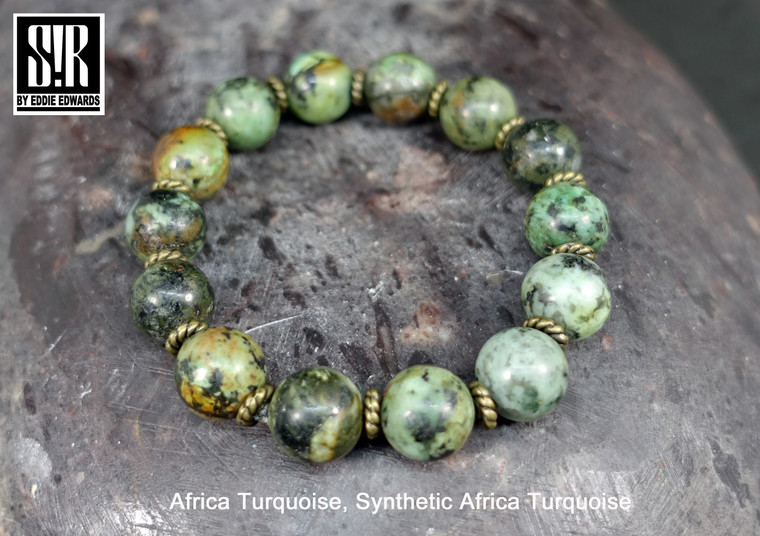 frica Turquoise, Smooth Round Beads