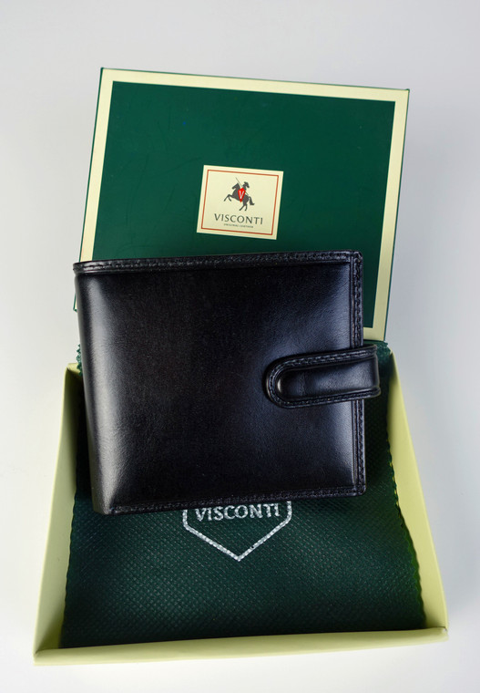 Visconti Men's Boxed Leather Tabbed Wallet