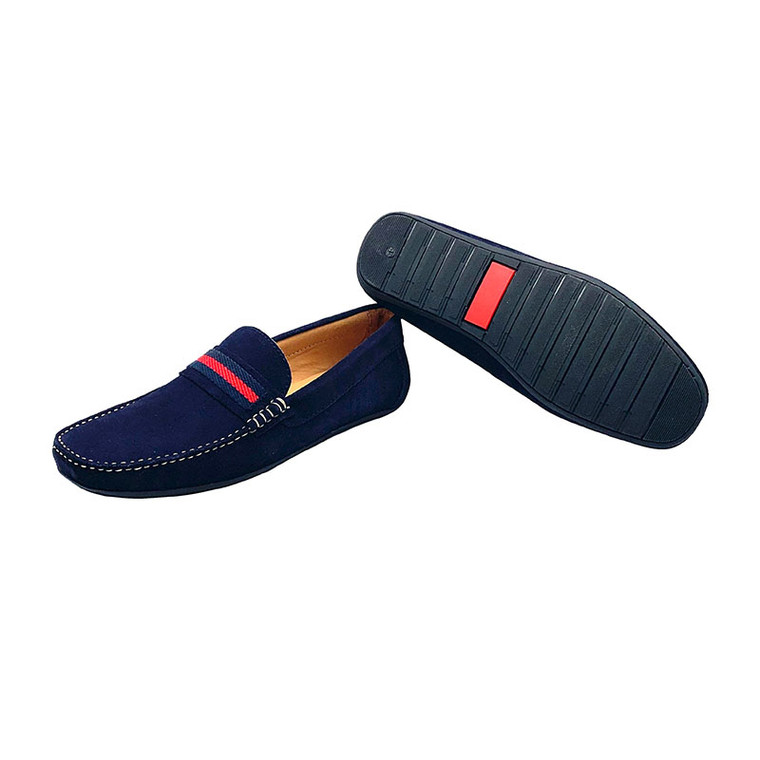 CHARLY - Navy Suede