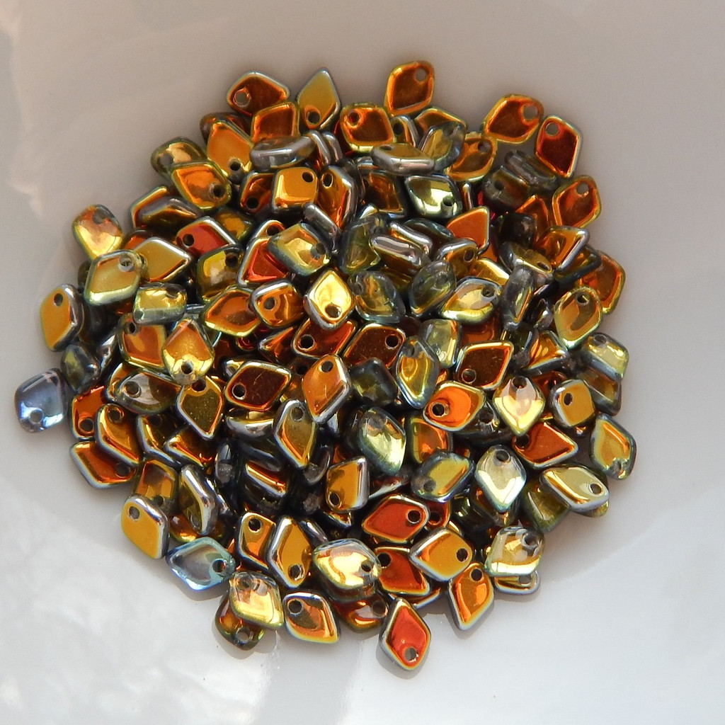 5mm Dragon Scale Drop Crystal Marea (5 Grams) Czech Glass Beads