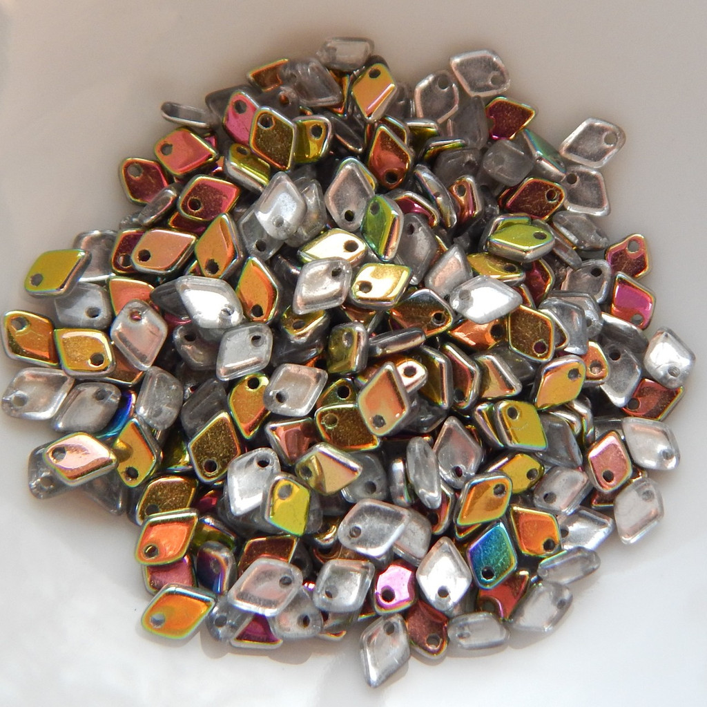 5mm Dragon Scale Drop Crystal Vitrail (5 Grams) Czech Glass Beads