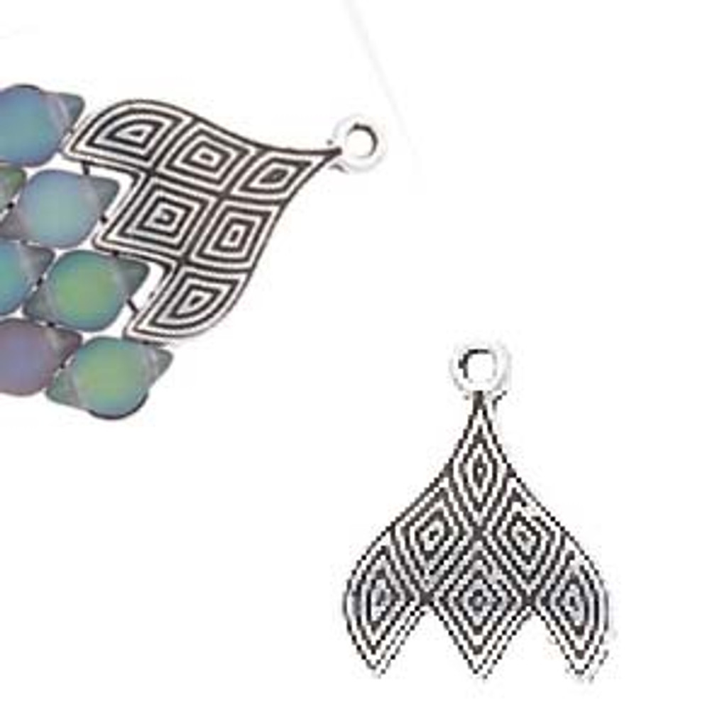 TOURLOS III - GEMDUO (2 pieces) - Antique Silver Plate - Cymbal™ BEAD ENDINGS™