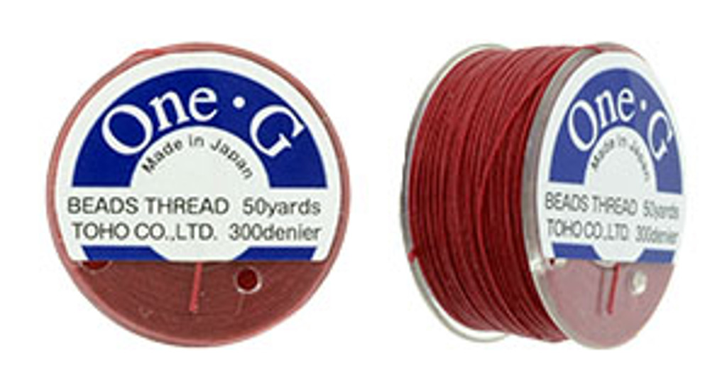 Red TOHO One-G Nylon Beading Thread 50 Yard Spool - (1 Spool)