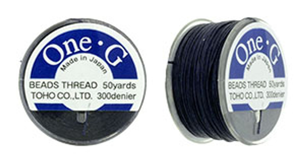Navy TOHO One-G Nylon Beading Thread 50 Yard Spool - (1 Spool)