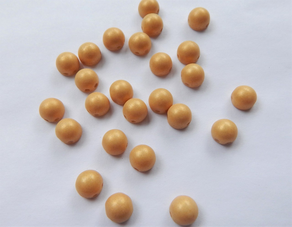 Cabochon 7mm 2-Hole Pacifica Ginger (25 beads)