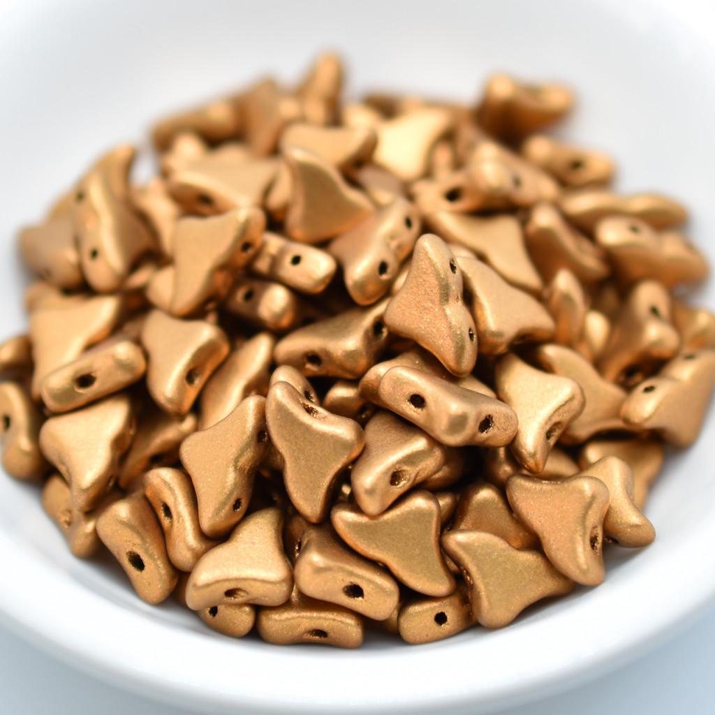 20 Beads - Helios® par Puca® Paris - Bronze Gold Matte - Czech Glass