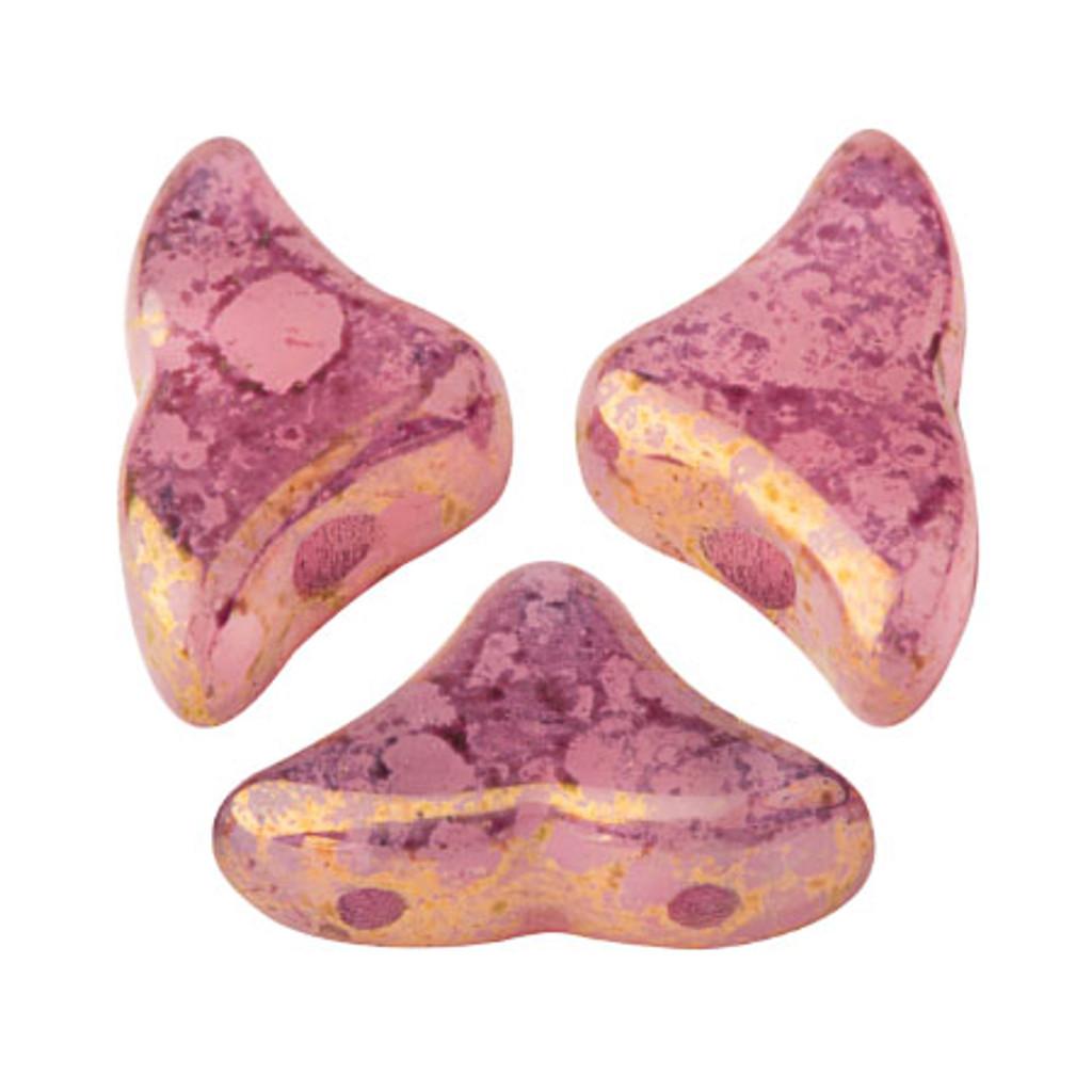 20 Beads - Helios® par Puca® Paris - Light Rose Opal Bronze - Czech Glass