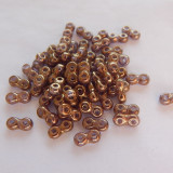 Two Hole Infinity Beads Gold Luster 5 Grams Czech Glass Beads