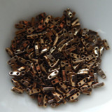 Quarter Tila Two Hole Beads Metallic Bronze 5 Grams Miyuki