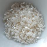 Quarter Tila Two Hole Beads Ivory Ceylon 5 Grams Miyuki