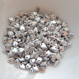 5mm Dragon Scale Drop Aluminum Silver (5 Grams) Czech Glass Beads
