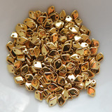 5mm Dragon Scale Drop Crystal Full Amber (5 Grams) Czech Glass Beads