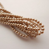 4mm Round Czech Glass Pearl Cocoa (120 beads)