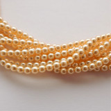 4mm Round Czech Glass Pearl Cream (120 beads)