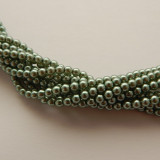4mm Round Czech Glass Pearl Indian Sapphire (120 beads)