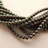 4mm Round Czech Glass Pearl Tahitian (120 beads)
