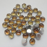 Baroque Cabochon 7mm 2-Hole (25 beads) Backlit Menthol