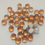 Baroque Cabochon 7mm 2-Hole (25 beads) Backlit Peach