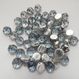 Baroque Cabochon 7mm 2-Hole (25 beads) Backlit Periwinkle