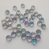 Baroque Cabochon 7mm 2-Hole (25 beads) Backlit Pink Mist