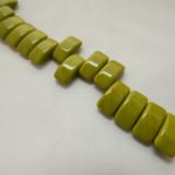 9x17mm 2 Hole Carrier Beads Opaque Green Wasabi (15 beads) Czech Glass Beads
