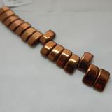 9x17mm 2 Hole Carrier Beads Bronze (15 beads) Czech Glass Beads