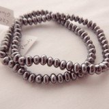 4x6mm Potato Shaped Glass Pearl Silver (50 Beads) Czech Glass Beads