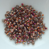 3mm Druk Rounds Crystal Sliperit (200 beads) Czech Glass
