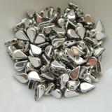 30 Beads - 5x8mm Amos® par Puca® Two Hole Drop Shape Argentees