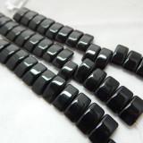 9x17mm 2 Hole Carrier Beads Opaque Jet (15 beads) Czech Glass Beads