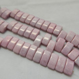 9x17mm 2 Hole Carrier Beads Opaque Chalk Lilac Luster (15 beads) Czech Glass Beads