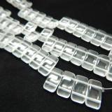 9x17mm 2 Hole Carrier Beads Crystal (15 beads) Czech Glass Beads