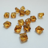 12 Beads - 8mm Pyramid Beadstud 2-Hole Crystal Picasso Czech Glass