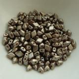 4x6mm DiamonDuo™ MINI Cocoa Airy Pearl (50 beads) Czech Glass