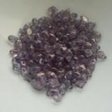 4x6mm DiamonDuo™ MINI Amethyst Lumi (50 beads) Czech Glass