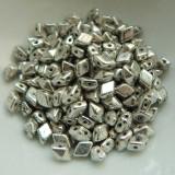 4x6mm DiamonDuo™ MINI Antique Silver (50 beads) Czech Glass