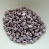 4x6mm DiamonDuo™ MINI Chalk Lumi Purple (50 beads) Czech Glass