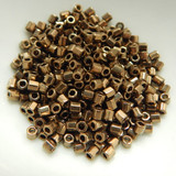 8/o Hex Cut Delica 5grams Metallic Bronze Miyuki Glass Seed Beads