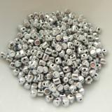 Minos Par Puca® 5 grams - Matte Silver Aluminum - 2.5x3mm Cylinder Czech Glass Beads