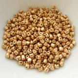 Minos Par Puca® 5 grams - Matte Light Gold - 2.5x3mm Cylinder Czech Glass Beads